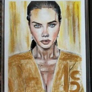 Gold 11 x 14 Canvas Paper Oil Painting